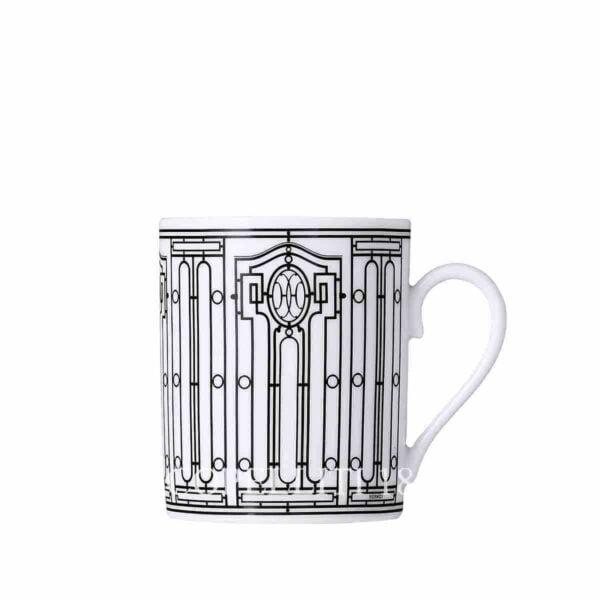 hermes limoges porcelain h deco mug