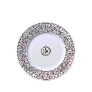 hermes limoges porcelain h deco rouge dessert plate