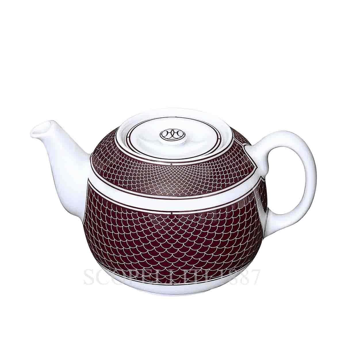 Hermes H Deco Red Teapot 2 Persons Scopelliti 1887