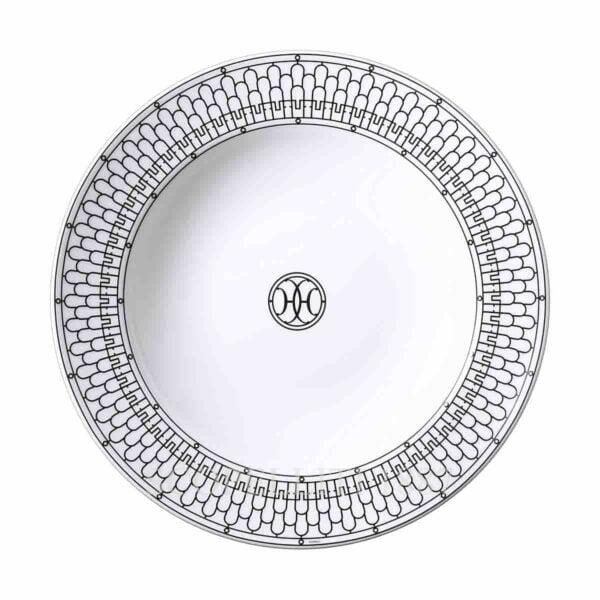hermes limoges porcelain h deco round deep platter