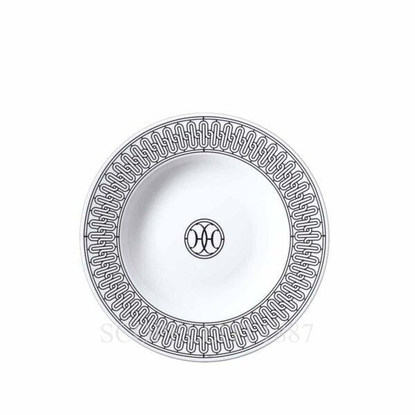 hermes limoges porcelain h deco soup plate