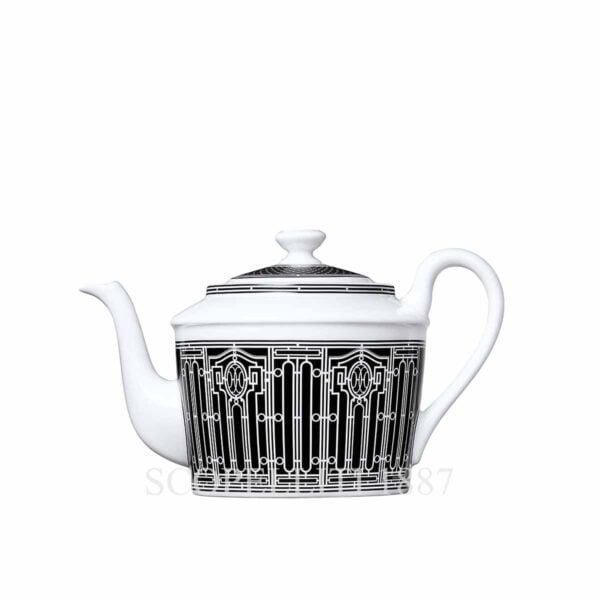hermes limoges porcelain h deco teapot