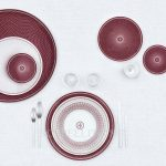 hermes limoges porcelain h deco rouge collection