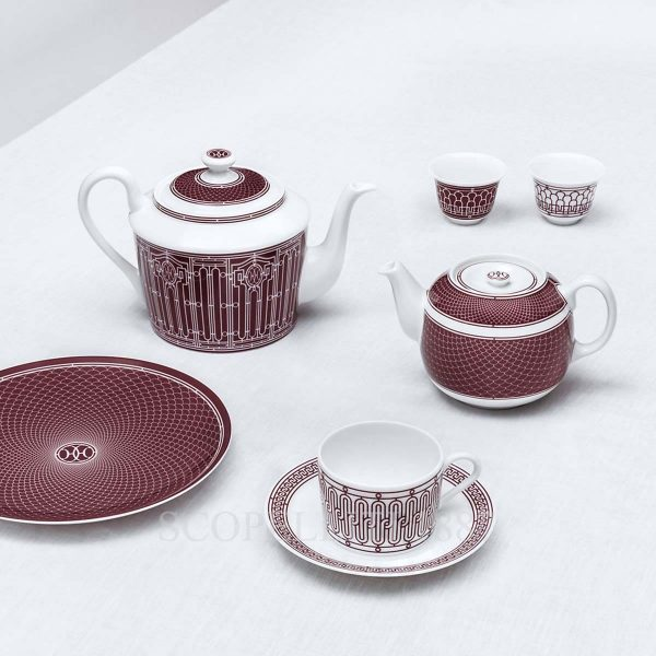 hermes limoges porcelain h deco rouge collection 2
