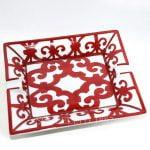 hermes red ashtray