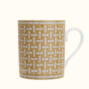 hermes mug mosaique au 24 gold