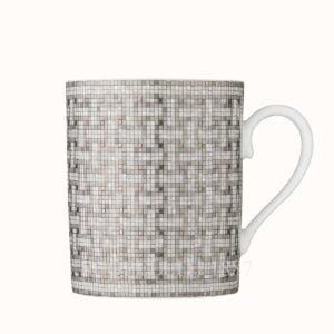 hermes mug mosaique au 24 platinum