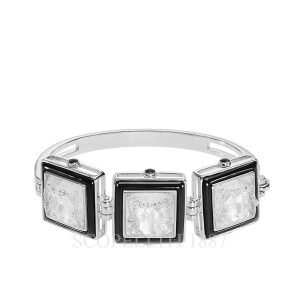 lalique crystal bracelet arethuse collection black