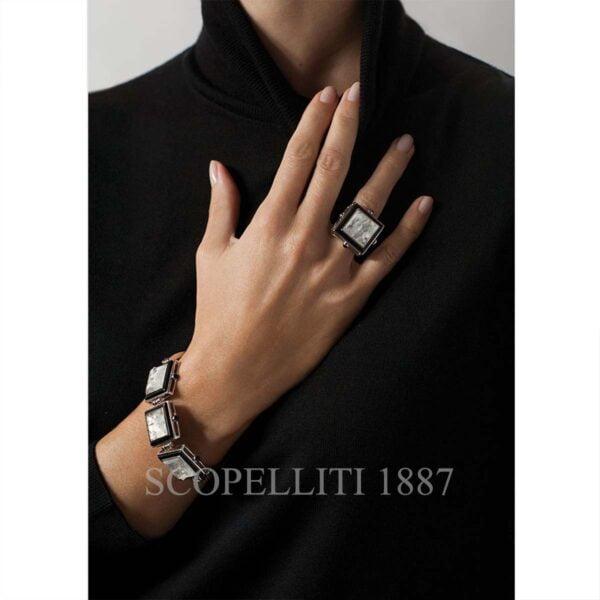 lalique crystal bracelet arethuse collection black