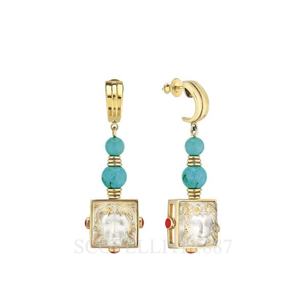 lalique arethuse earrings sterling silver