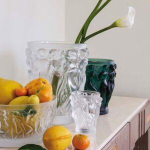 lalique bacchantes clear crystal vase