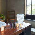 lalique bacchantes clear crystal vase large