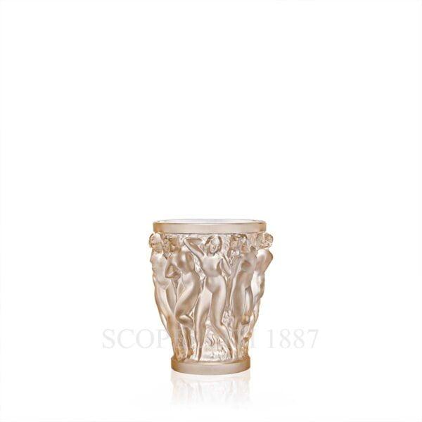 lalique bacchantes vase golden luster crystal