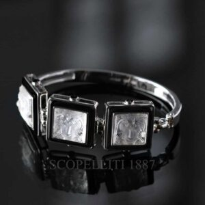 lalique bracelet crystal black arethuse