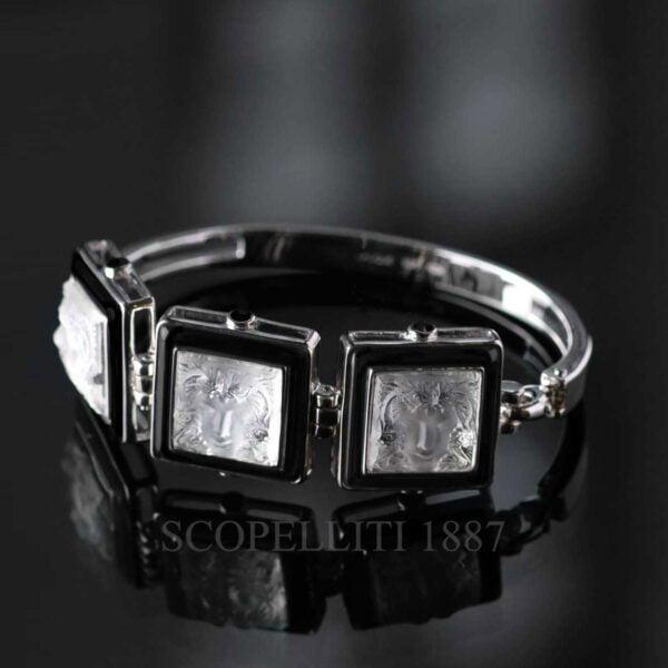 lalique bracelet crystal black arethuse