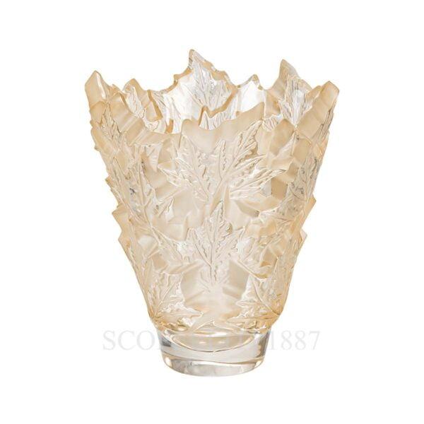 lalique champs elysees golden luster crystal vase