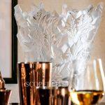 lalique champs elysees crystal vase