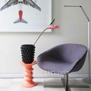 lalique black crystal mossi xxl vase