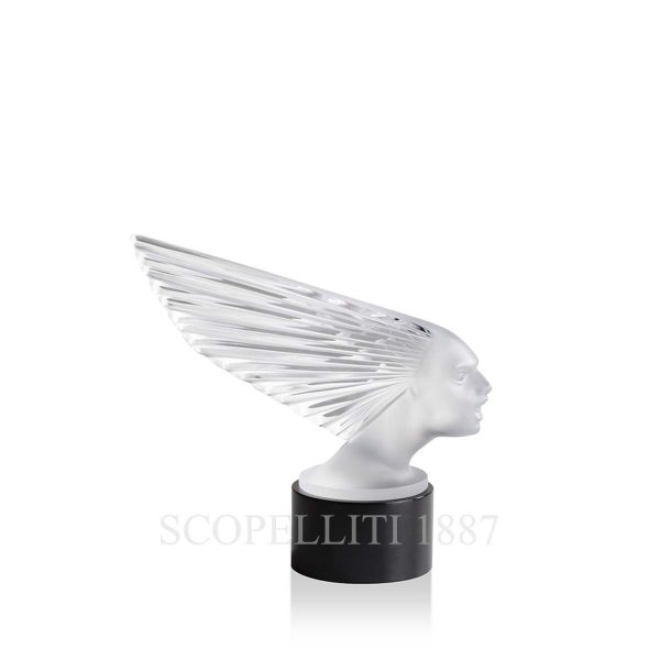 lalique crystal lighted victoire sculpture