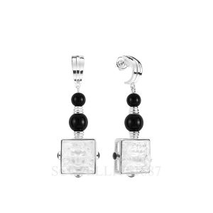 lalique arethuse earrings onyx silver