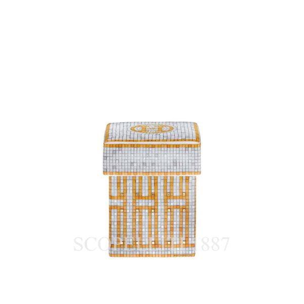 hermes limoges porcelain mosaique au 24 gold box small
