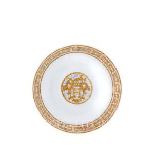 hermes limoges porcelain mosaique au 24 gold cereal bowl