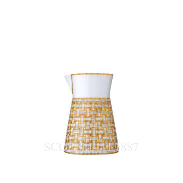 hermes limoges porcelain mosaique au 24 gold creamer