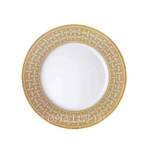 hermes limoges porcelain mosaique au 24 gold dinner plate