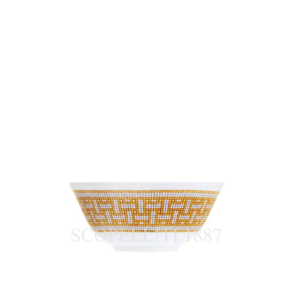 hermes limoges porcelain mosaique au 24 gold rice bowl