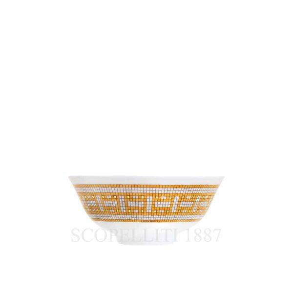 hermes limoges porcelain mosaique au 24 gold soup bowl