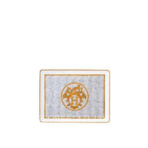 hermes limoges porcelain mosaique au 24 gold tray small