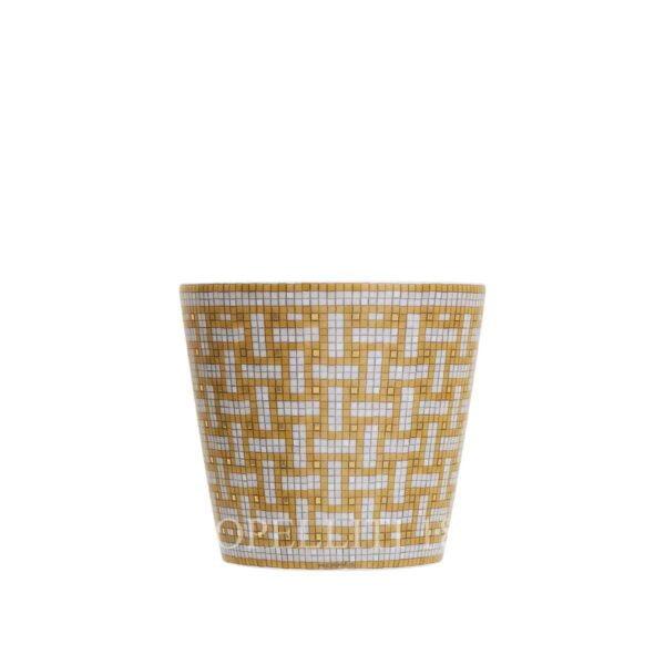 hermes limoges porcelain mosaique au 24 gold tumbler