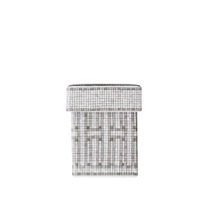 hermes limoges porcelain mosaique au 24 platinum box small