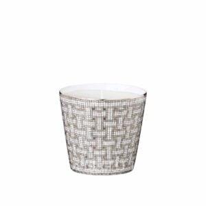 hermes limoges porcelain mosaique au 24 platinum candle tumbler