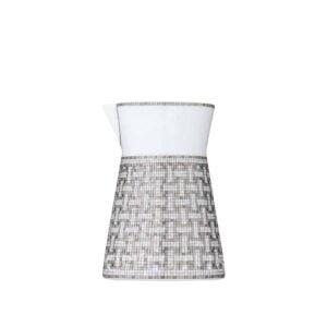 hermes limoges porcelain mosaique au 24 platinum creamer