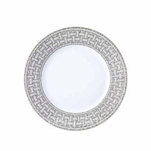 hermes limoges porcelain mosaique au 24 platinum dinner plate