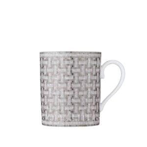 hermes limoges porcelain mosaique au 24 platinum mug