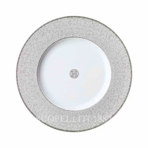 hermes limoges porcelain mosaique au 24 platinum presentation plate