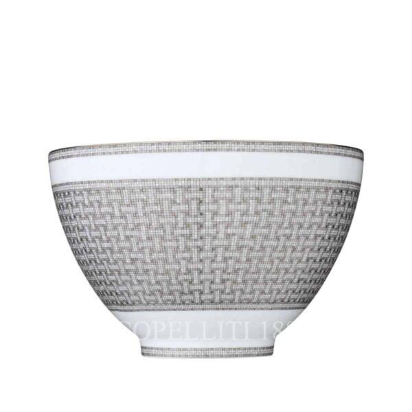 hermes limoges porcelain mosaique au 24 platinum punch bowl
