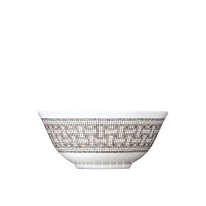 hermes limoges porcelain mosaique au 24 platinum rice bowl