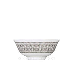 hermes limoges porcelain mosaique au 24 platinum soup bowl