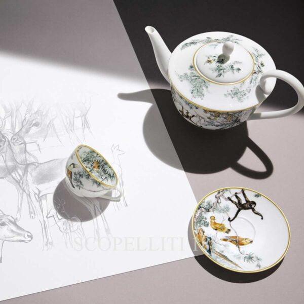 hermes tea cup teapot carnets