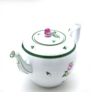 herend teapot with rose