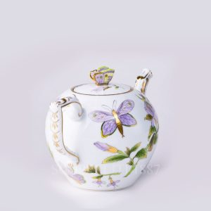 herend teapot with butterfly