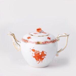 herend teapot rust apponyi