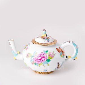 teapot herend luxurious butterfly