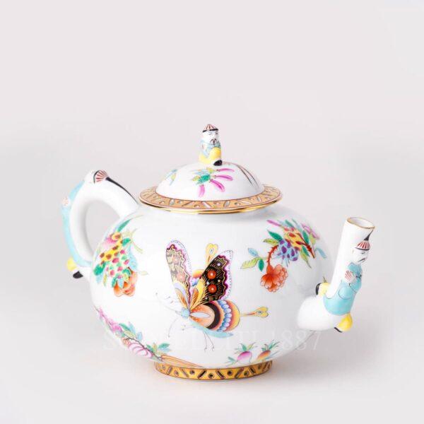 teapot herend luxurious butterfly