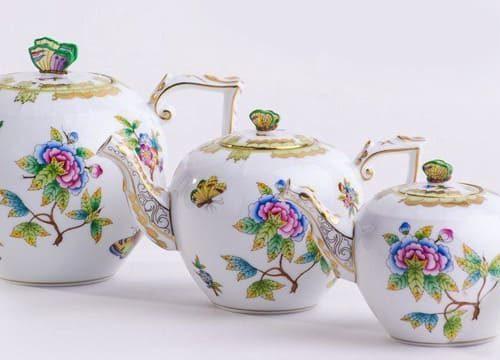 Herend Porcelan Teapot Pattern Variety