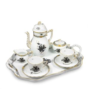 herend apponyi black coffee set