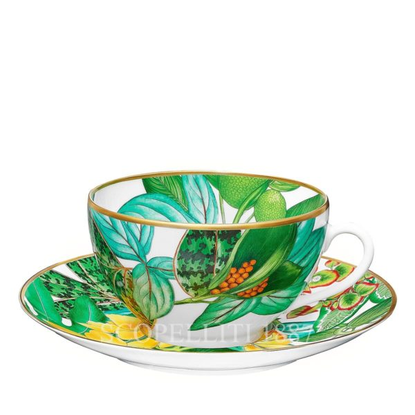 hermes porcelain new decor passifolia breakfast cup